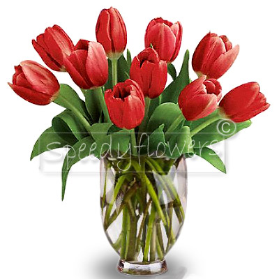 Wonderful tulips bouquet