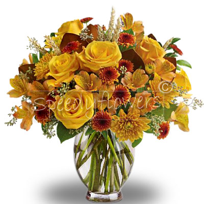 Bouquet of yellow and orange flowers