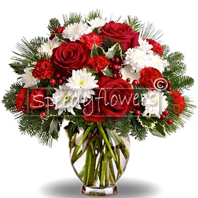 Christmas Bouquet red and white
