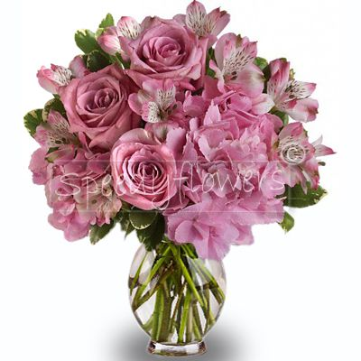 Pink Bouquet for the birth of a baby girl