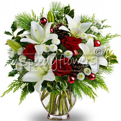 Beautiful bouquet Christmas to give to your loved ones.
