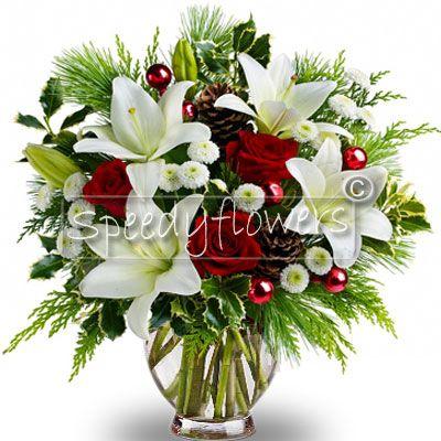 Bouquet Di Natale Con Pigne E Bacche