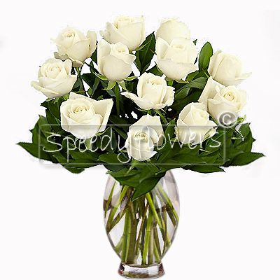 Beautiful bouquet of white roses. Giving flowers is always a romantic gesture.