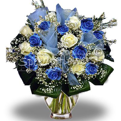 Baby boy birth bouquet