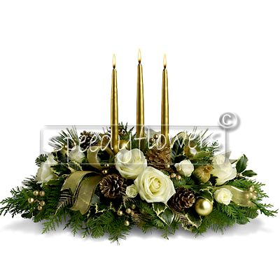 Centerpiece Elegant White Gold