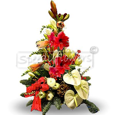 You could give this splendid Christmas centerpiece.