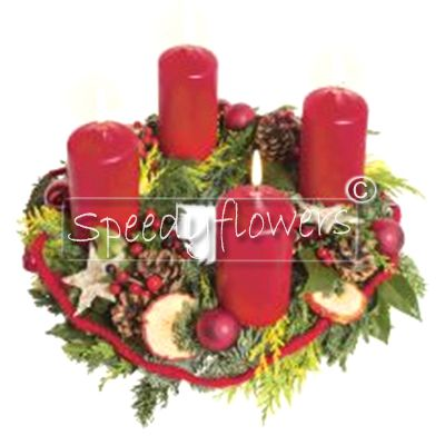 If you want an original idea gives this centerpiece for Advent.