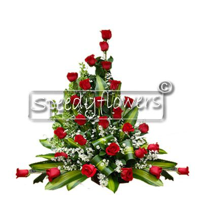Composition of Red Roses as a gift for Valentine's Day