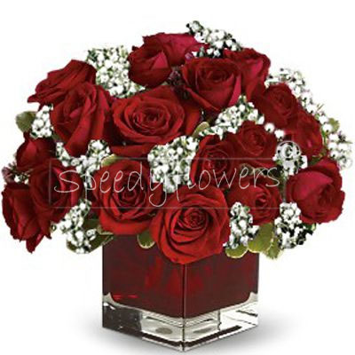 Composition of red roses