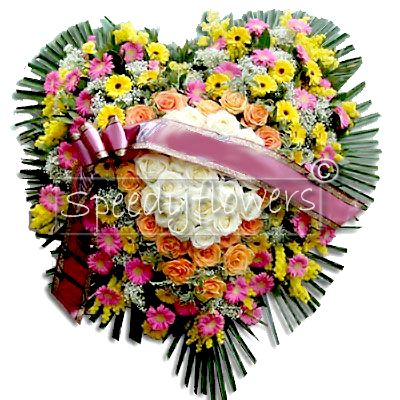 Heart shaped funeral pillow