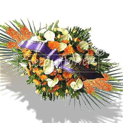 Cuscino funebre con Anthurium