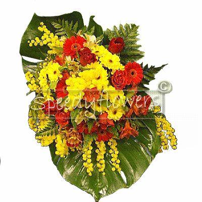 Mazzo di fiori dedicato a tutte le donne per la loro festa.