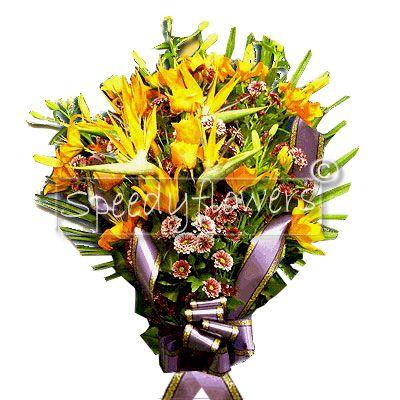 Mazzo di fiori funebre