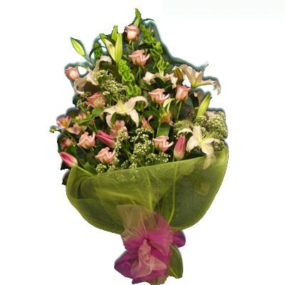 Mazzo di lilium rosa per compleanno 5163eff2808c