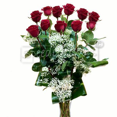 Online selling of eleven red roses