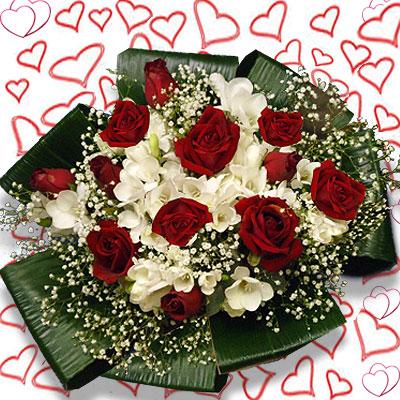 Mazzo Di Fiori Auguri.Vendita Fiori San Valentino Inviare Fiori S Valentino
