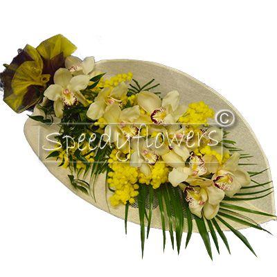 8 marzo regala questa profumata orchidea e mimosa