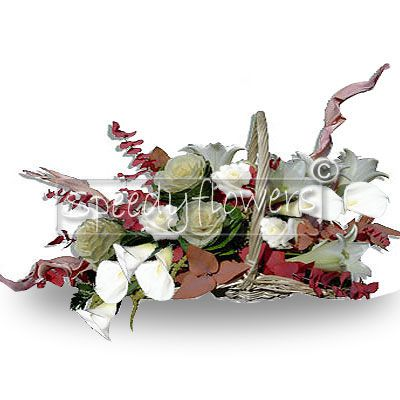 regalare cesto di fiori in composizione