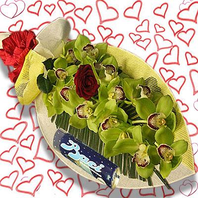 Regalare spedire ramo orchidea inviare for Orchidea foglie gialle