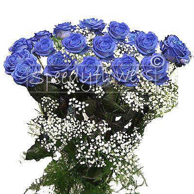 12 Rose blu per onomastico