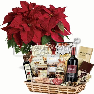 emotion your loved ones with Christmas star and luxury basket
