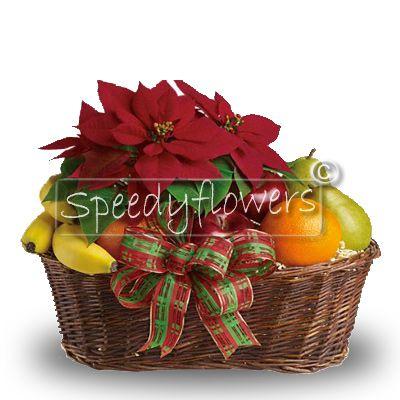 Natale regalare cesto di frutta e fiori for Cesto di frutta disegno