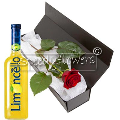 For Father's Day offers a Red Rose and a bottle of Limoncello