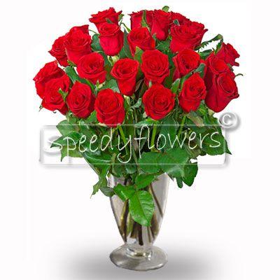 Ventiquattro rose rosse per Roma